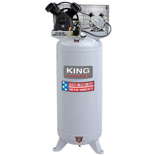 King Industrial KC-6160V3  60Gallon, 6.5 Peak HP, 11.2 SCFM AT 90PSI, 2 Cylinder Air Compressor