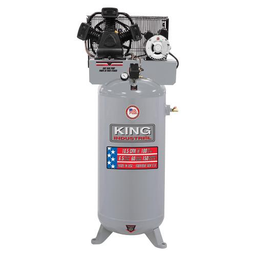 King Industrial KING-KC-5160V3  60G, 6.5 Peak HP, 18.5 SCFM AT 90PSI, 3 Cylinder Air Compressor