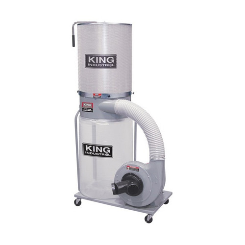 King Industrial KC-3105-KDCF3500 1-1/2HP Dust Collector With Canister