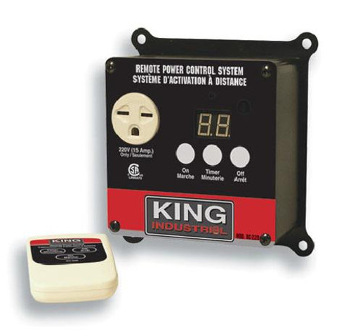 King Industrial RC-220  220 Volt Remote for Dust Collector-15Amp