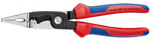 Knipex KNIP-1382200SB  8IN Electrician Installation 6 in 1 Pliers/Wire Stripper Comfort