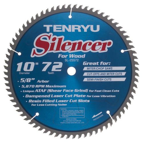 Tenryu TEN-SL-26072  260MM (Kapex) Silencer 72t, 30mm, Ataf -0deg Mitre Saw Blades