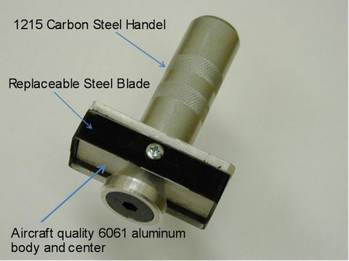 """Templaco Tools Inc TEM-LM-001  Latch Mortiser 1"""" X 2-1/4"""" 4 Sided Cutter With Striker"""
