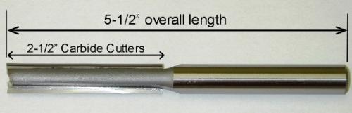 "Templaco Tools Inc TEM-LRB-2 1/2""Diameter x 1/2"" Shank 5-1/2""OAL 2-1/2"" Cutter Length"