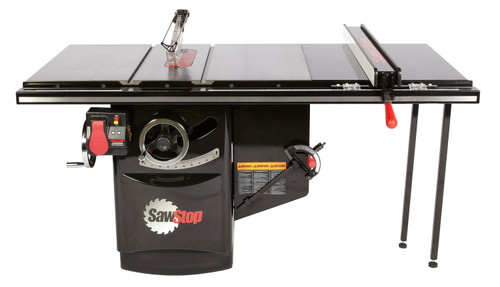"""SawStop SAW-ICS5123036  Industrial 10"""" Cabinet Saw 5Hp, 1ph, 230V, 60hz with 36""""T-Glide"""