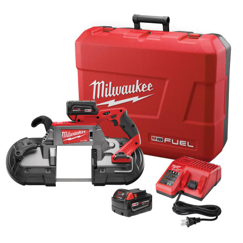 Milwaukee 2729-22 FUEL Deep Cut Band Saw Kit + 2x 4.0Ah Batteries