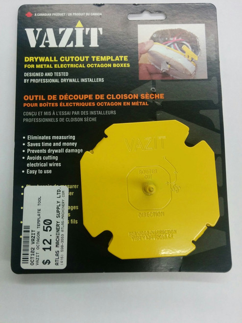 Vazit VAZ-OCT102 Drywall Cutout Tool - Octagonal Electrical Boxes