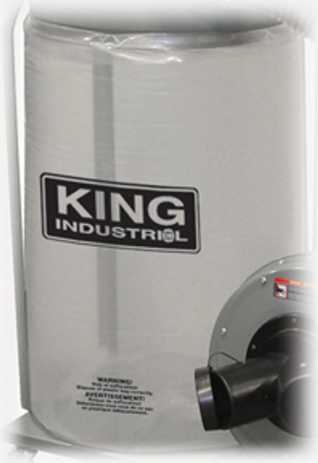 King Industrial KING-KDCB-5  See Through Plastic Bottom Dust Bag