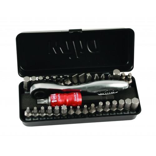 Wiha Wiha-74996  34 Piece Bit Set With Ratchet and Metal Case