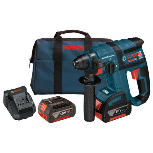 "Bosch RHH181-01 18 Volt 3/4"" SDS+ Rotary Hammer Kit With 4.0 Ah Batteries"