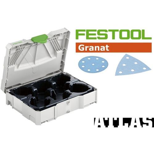 Festool FES-497687GRKit RO90 / DX93 Round and Delta Granat Sanding Paper Set