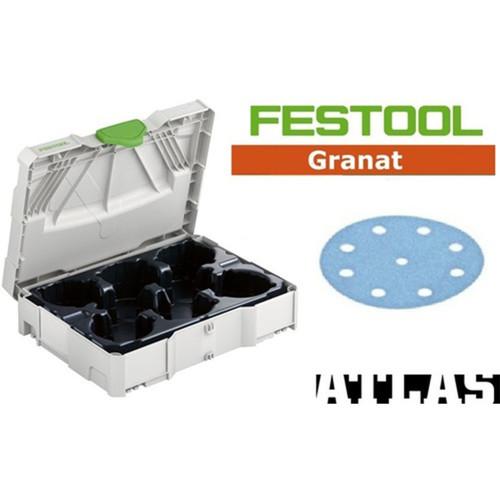 Festool FES-497685GR ETS125 Granat Sanding Paper Set