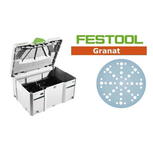 Festool FES-497690GR ETS/RO 150 Granat Sanding Paper Set