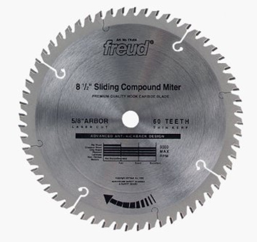 "Freud FRE-TK604 8-1/2"" 60 Tooth ATB Miter Saw Blade with 5/8"" Arbor"