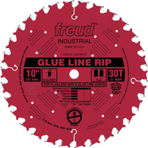 """Freud FRE-LM74R010  10"""" 30 Tooth Glue Line Rip Blade"""