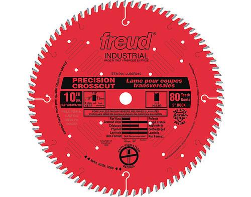 """Freud FRE-LU80R010  10"""" 80 Tooth Full Kerf Hi-ATB Precision Crosscut Saw Blade"""