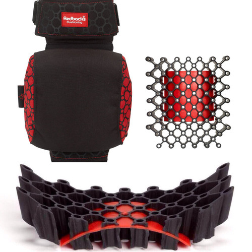RedBacks RED-STLW20 Strapped Knee Pad Extra Comfy Cushioning