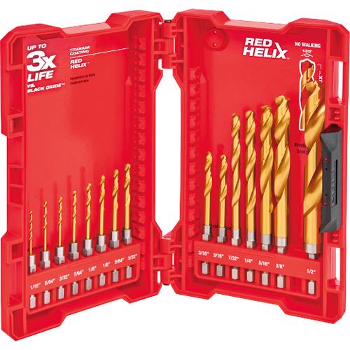 Milwaukee 48-89-4630  15 Piece TiN Shockwave Drill Bit Kit