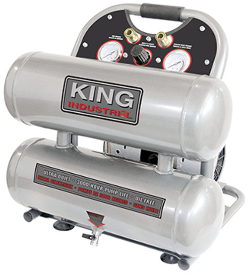 King Industrial KING-KC-4620A  4.6 Gallon Ultra Quiet Oil Free Air Compressor