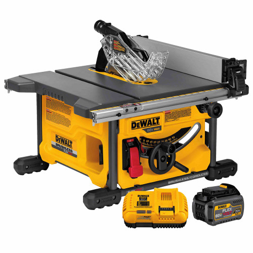 """DeWALT DCS7485T1  60V MAX 8 1/4"""" Table Saw Kit  -  6Ah Battery + Fast Charger"""