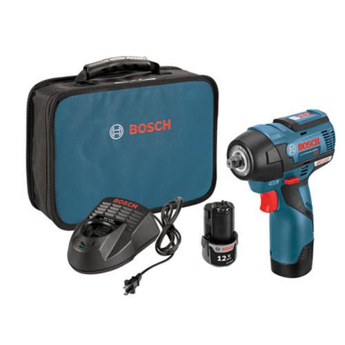Bosch PS82-02 12V MAX EC Brushless 3/8 In. Impact Wrench Kit