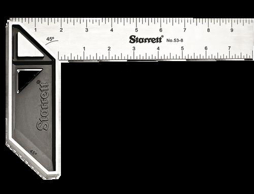 """L. S. Starrett K53-8-N  8"""" Stainless Steel Carpenter's Try Square"""