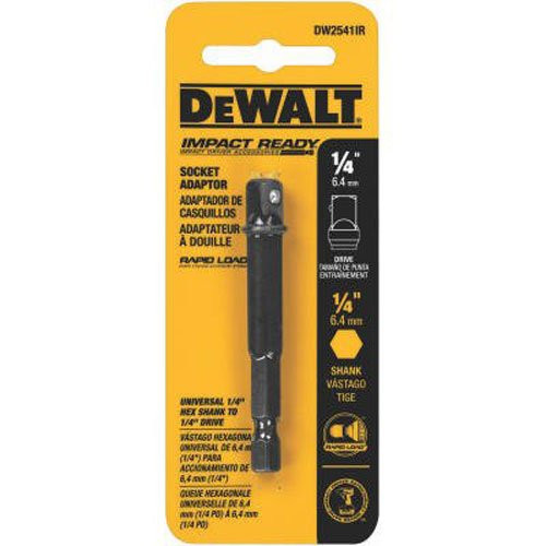 Dewalt DW2541IR  1/4-Inch Hex To 1/4-Inch Square Impact Ready Socket Adaptor