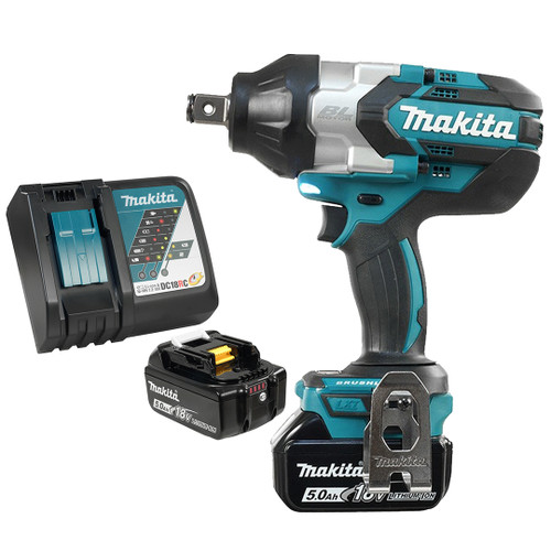 "Makita DTW1001RTE 3/4"" Cordless High Torque Impact Wrench with Brushless Motor - Kit"