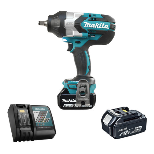 "Makita DTW1002RTE 1/2"" Cordless High Torque Impact Wrench with Brushless Motor - Kit"