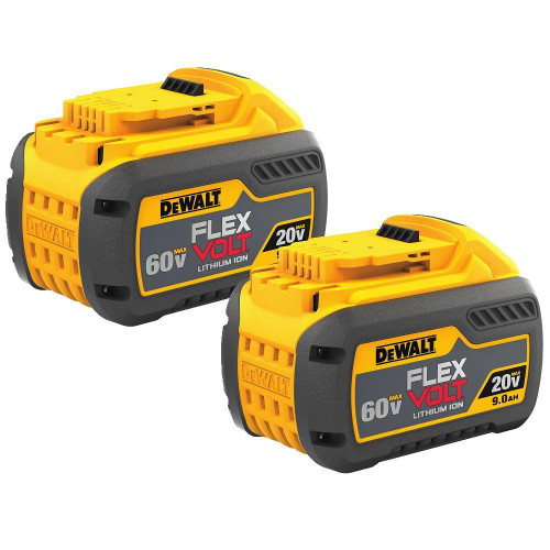 Dewalt DCB609-2  2 Pack of 20V/60V Max Flexvolt 9.0Ah Battery