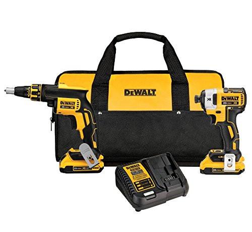 Dewalt DCK267D2  20V MAX XR Brushless Drywall Screwgun & Impact Driver Kit + Two 2.0ah batteries