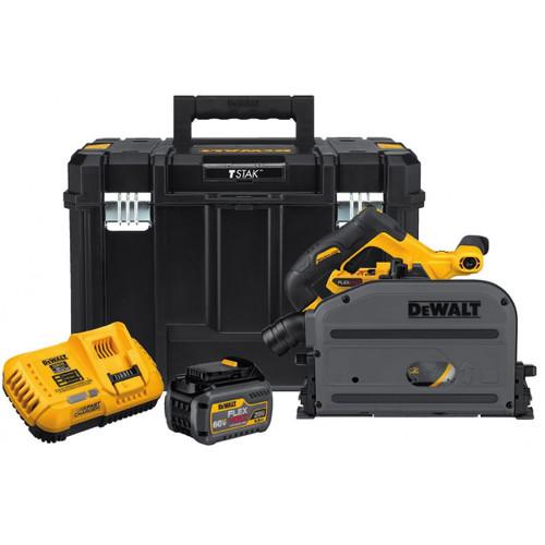 "Dewalt DCS520T1  60V Max 6-1/2"" (165mm) Cordless Tracksaw Kit with 6.0Ah Battery"