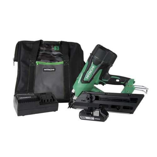 Metabo-HPT HIT-NR1890DC 30-34 Degree Cordless Framing Nailer 3.0Ah Kit - Green Lightning