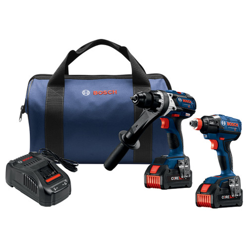 Bosch GXL18V-225B24  18 V 2-Tool Combo Kit with (2) CORE18 V 6.3 Ah Batteries