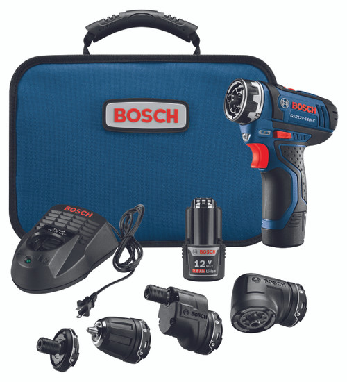 Bosch GSR12V-140FCB22  12V 5-IN-1 Flexiclicks System