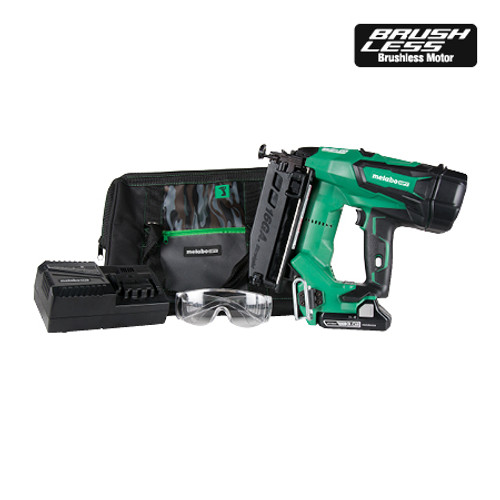 "Metabo-HPT HIT-NT1865DM 18V Brushless 2-1/2"" 16-Gauge Straight Finish Nailer"