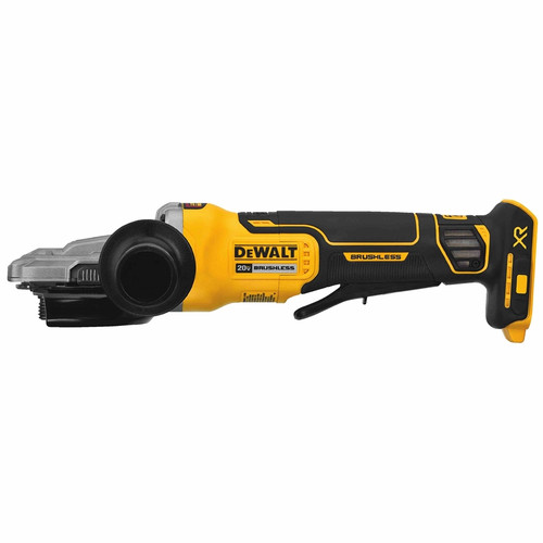 """Dewalt DCG413FB   20V MAX 5"""" Flathead Paddle Switch Small Angle Grinder With Kickback Brake (Tool Only)"""