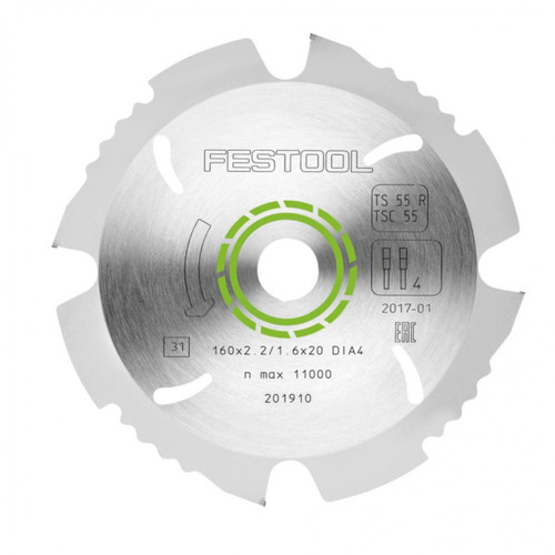 Festool FES-202958  TS 55 Diamond Saw Blade For Fiber Cement Board