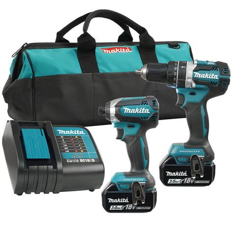 Makita DLX2180S  18V LXT BRUSHLESS  2 Tool Combo 3Ah Kit