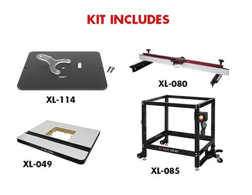 Stupendous King Industrial Xl 200Mep Router Table Kit Xl 200Mep Machost Co Dining Chair Design Ideas Machostcouk