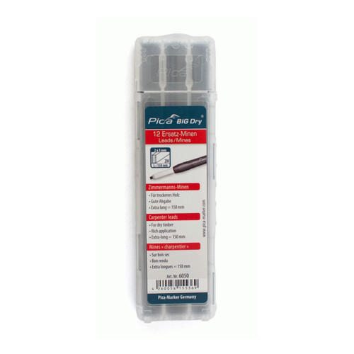 Pica-Marker PICA-6050 Pica BIG Dry refill leads 6050 Carpenter leads 2H
