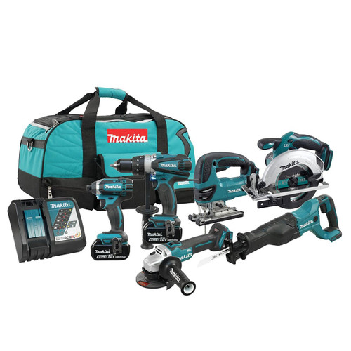 Makita DLX6079M  6pc LXT Combo Kit Li-ion 4ah Battery Kit