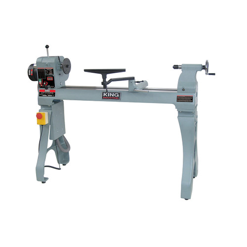 """King Canada KWL-1643ABC  16"""" X 43"""" Wood Lathe With Electronic Variable Speed"""