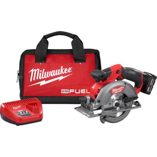 "Milwaukee 2530-21XC M12 FUEL 5-3/8"" Circular Saw 4Ah Kit"