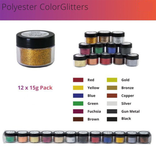 EcoPoxy EP-GLP10-XX  15g Polyester Color Glitter