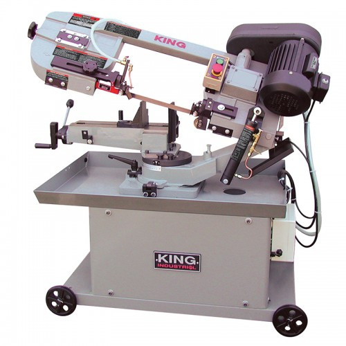"King Industrial KC-712DS  7"" X 12"" Metal Cutting Dual Swivel Bandsaw"