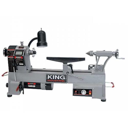 """King Industrial KWL-1218VS  12"""" X 18"""" Variable Speed Wood Lathe"""