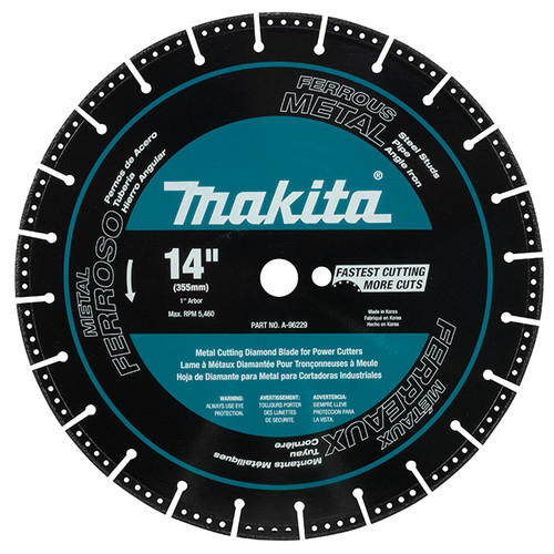 "Makita A-96229 14"" Diamond Blade, Segmented, Metal Cutting"