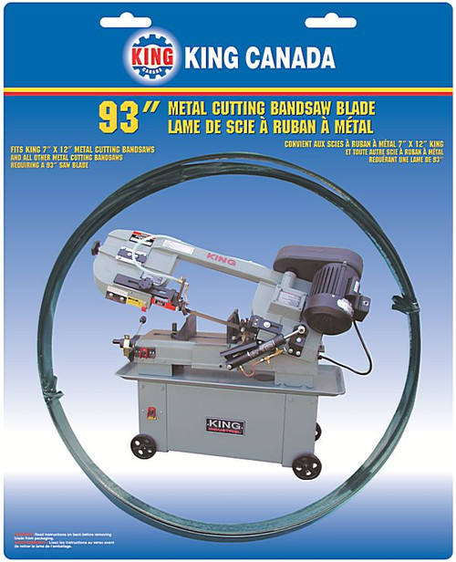 King Canada KBB-712BM-610  93 X .032 X 3/4 Bi-metal Blade X 6 - 10 T.p.i. Skip Tooth