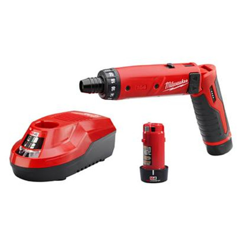 """Milwaukee 2101-22  M4 1/4"""" Hex Screwdriver Kit With Batteries"""